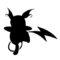 Pokemon - Raichu Silhouette Stencil