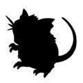 Pokemon - Raticate Silhouette Stencil