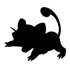 Pokemon – Rattata Silhouette Stencil