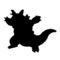Pokemon - Rhydon Silhouette Stencil