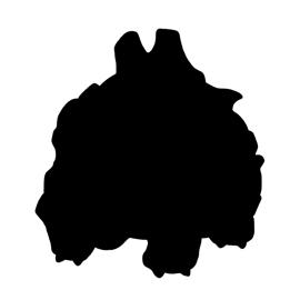 Pokemon – Rhyhorn Silhouette Stencil