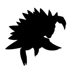 Pokemon – Sandslash Silhouette Stencil