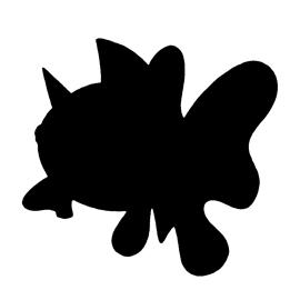 Pokemon – Seaking Silhouette Stencil