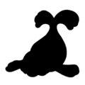 Pokemon - Seel Silhouette Stencil