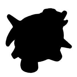 Pokemon – Shellder Silhouette Stencil