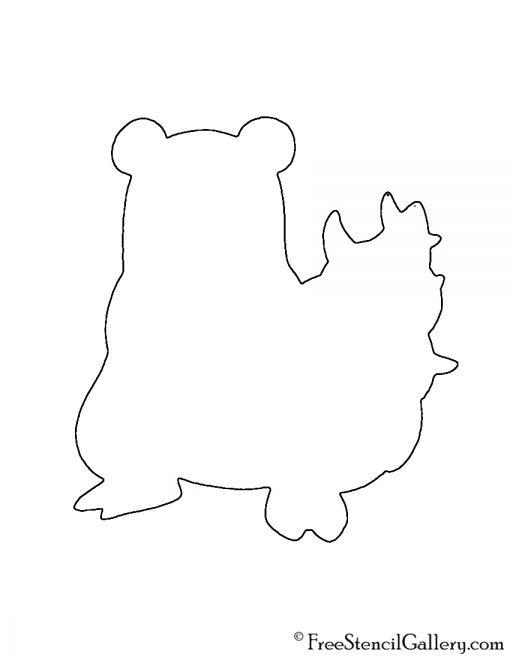 Pokemon - Slowbro Silhouette Stencil