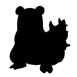 Pokemon – Slowbro Silhouette Stencil