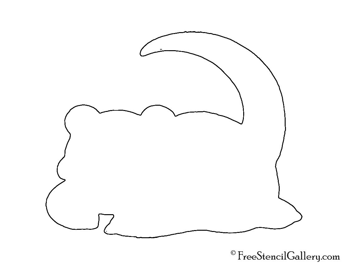 Pokemon - Slowpoke Silhouette Stencil