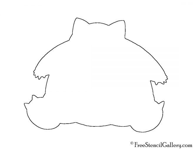 Pokemon - Snorlax Silhouette Stencil