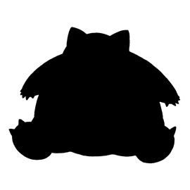 Pokemon – Snorlax Silhouette Stencil