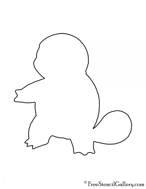 Pokemon - Squirtle Silhouette Stencil