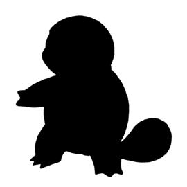 Pokemon – Squirtle Silhouette Stencil
