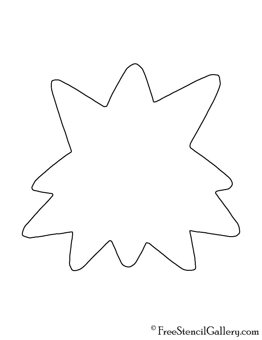 Pokemon - Starmie Silhouette Stencil