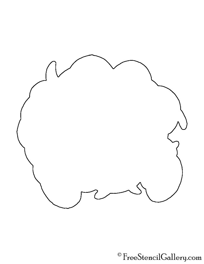 Pokemon - Tangela Silhouette Stencil