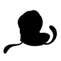 Pokemon - Tentacool Silhouette Stencil