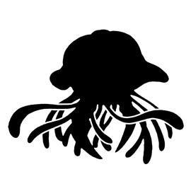 Pokemon – Tentacruel Silhouette Stencil