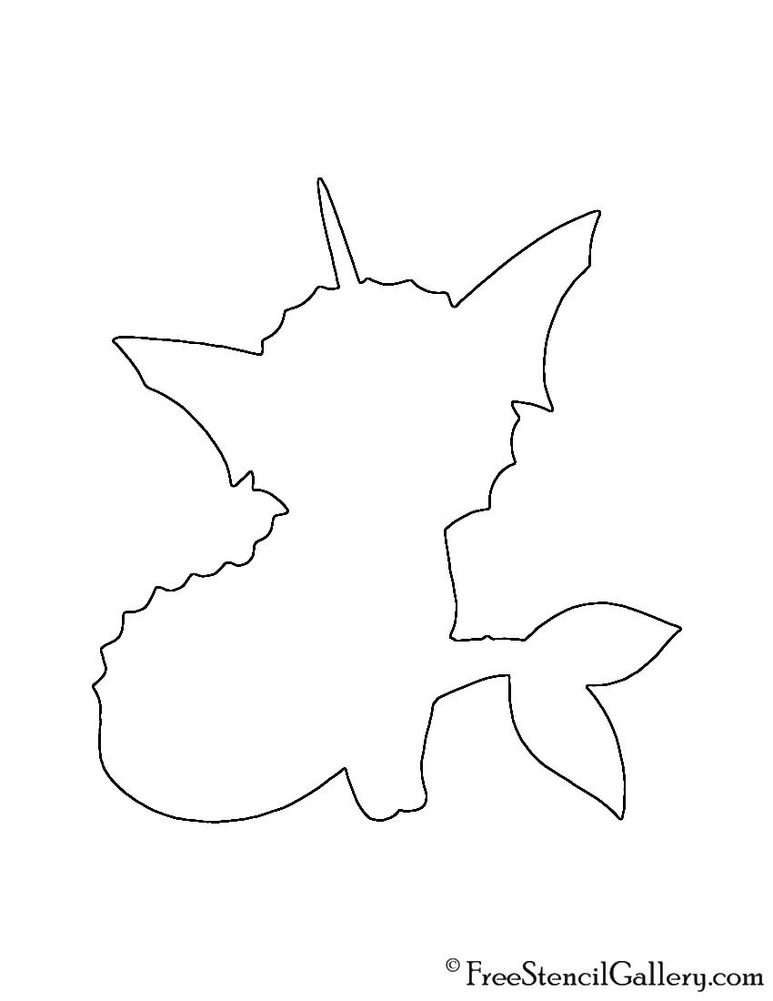 Pokemon - Vaporeon Silhouette Stencil