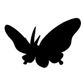 Pokemon – Venomoth Silhouette Stencil