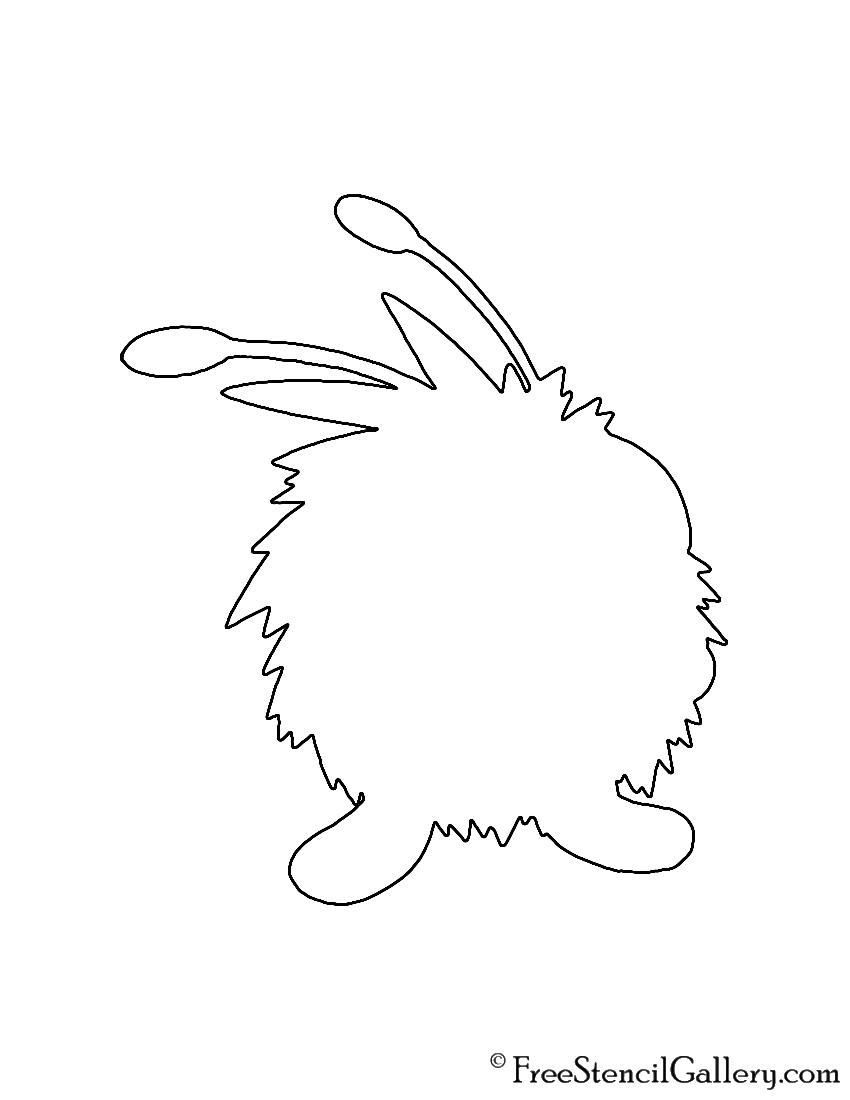 Pokemon - Venonat Silhouette Stencil