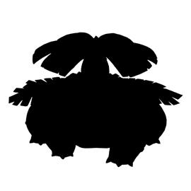 Pokemon – Venusaur Silhouette Stencil