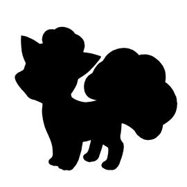 Pokemon – Vulpix Silhouette Stencil