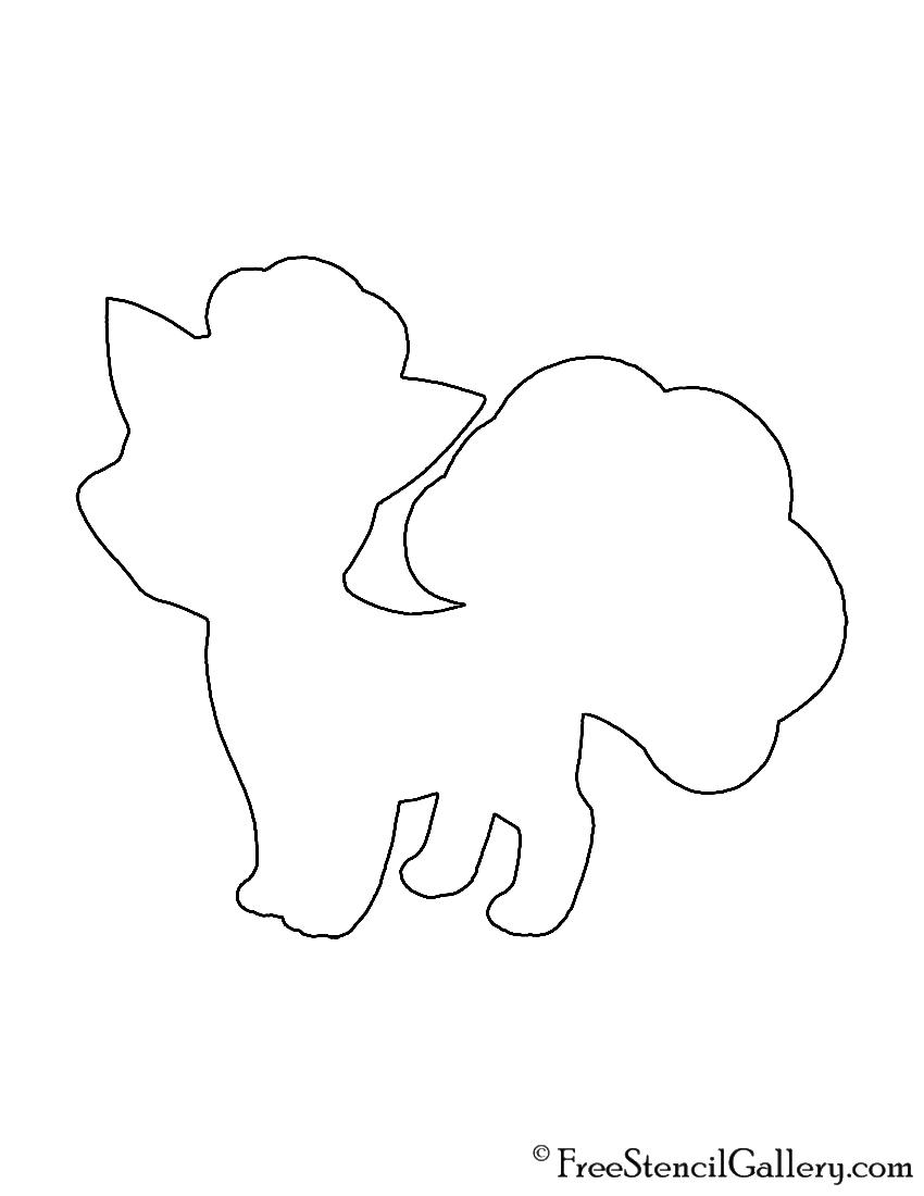 Pokemon - Vulpix Silhouette Stencil