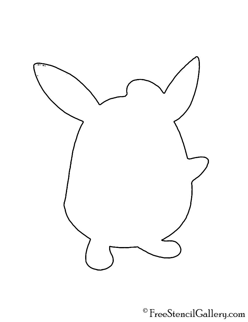Pokemon - Wigglytuff Silhouette Stencil