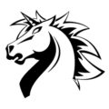 Unicorns of Love Logo Stencil
