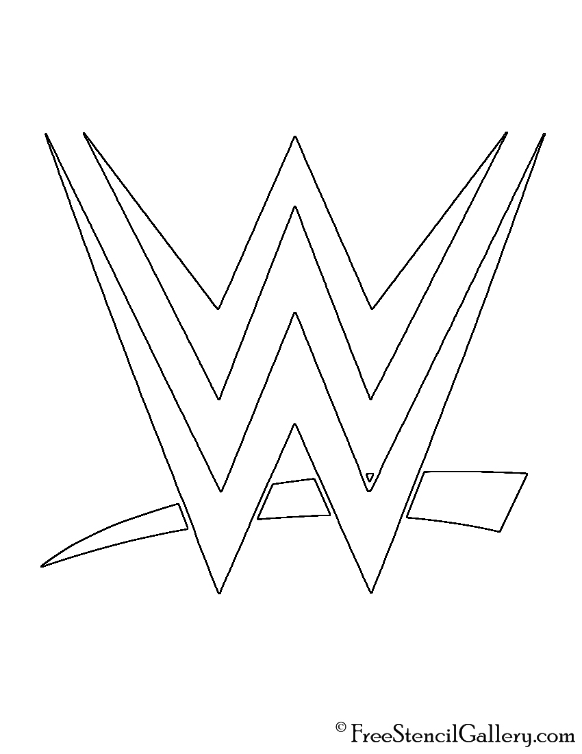 WWE Logo Stencil Free Stencil Gallery