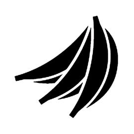 Banana Stencil