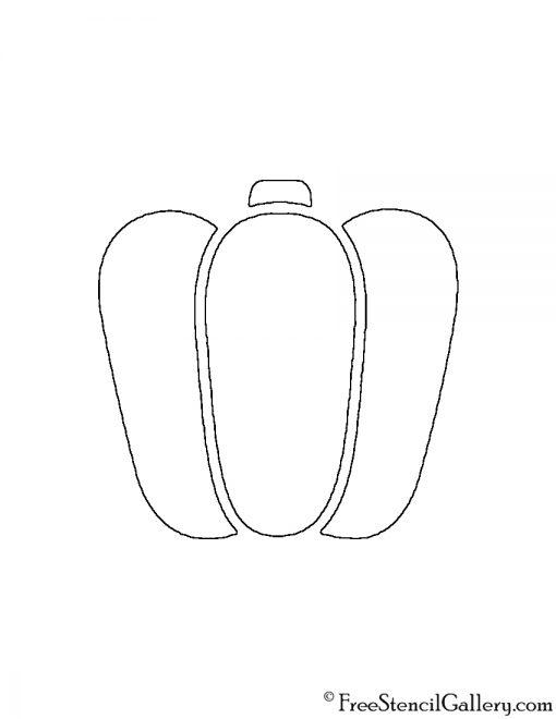 Bell Pepper Stencil