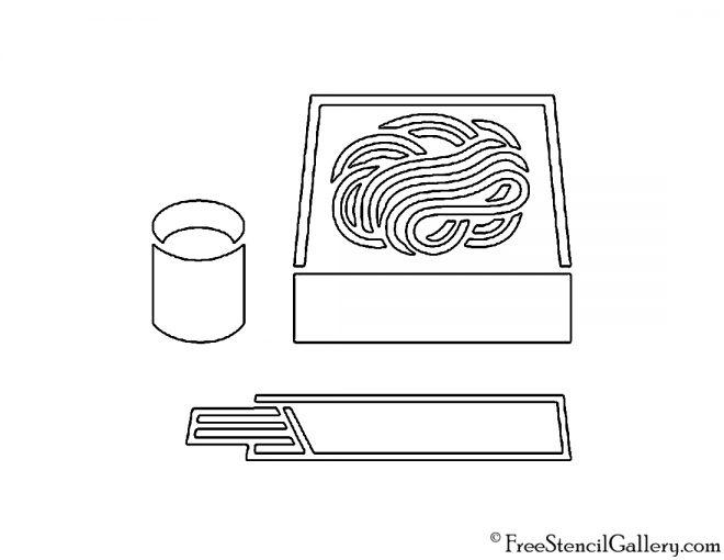 Bento Box Stencil