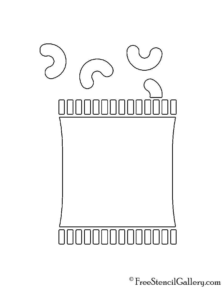 Chips Bag Stencil