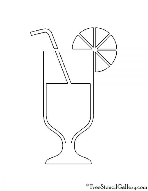 Cocktail Stencil