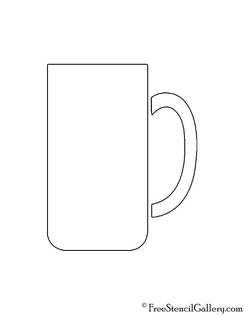 Coffee Mug Stencil | Free Stencil Gallery