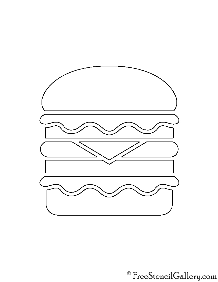 Hamburger Stencil