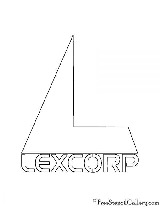 Lexcorp Logo Stencil