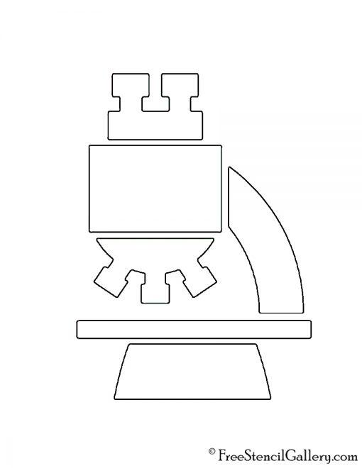 Microscope 03 Stencil
