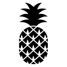 Pineapple 02 Stencil