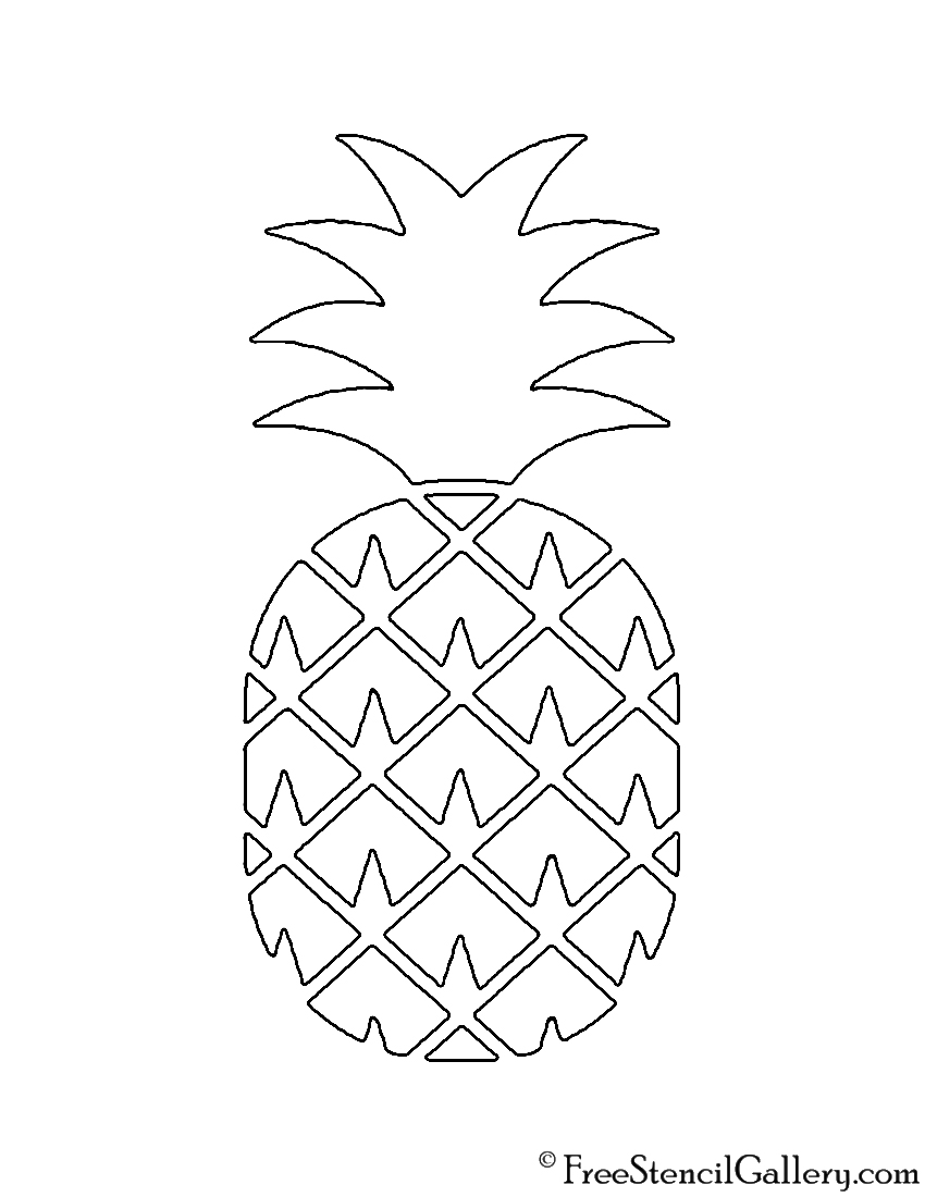 It's just a picture of Fan Pineapple Stencil Printable