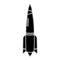 Rocket Ship 01 Stencil