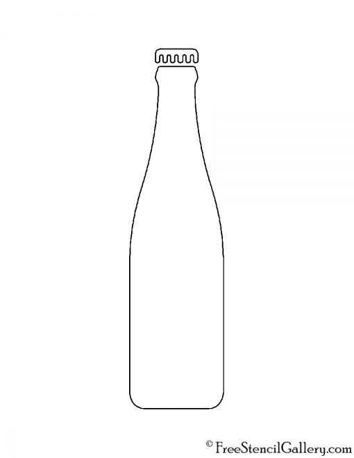 Soda Bottle Stencil