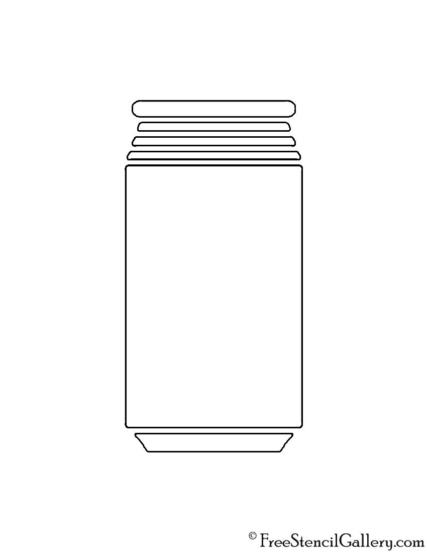 Soda Can Stencil