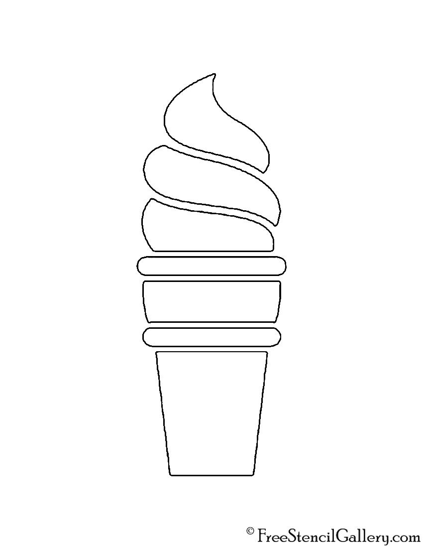 Soft Serve Ice Cream Stencil