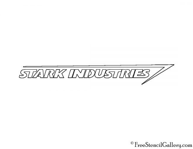 Stark Industries Logo Stencil