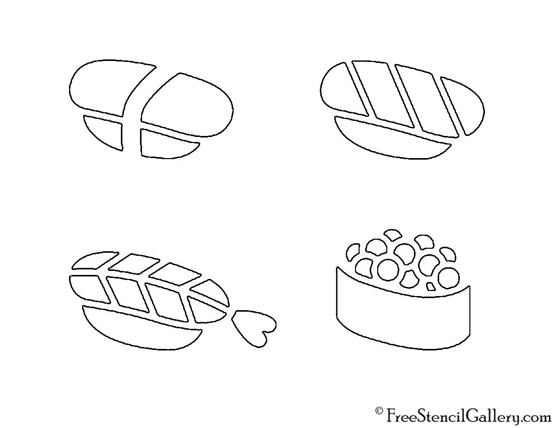 Sushi 02 Stencil