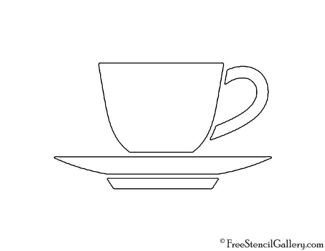 Tea Cup Stencil Free Stencil Gallery