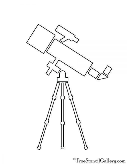 Telescope 02 Stencil