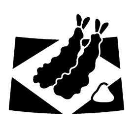 Tempura Shrimp Stencil