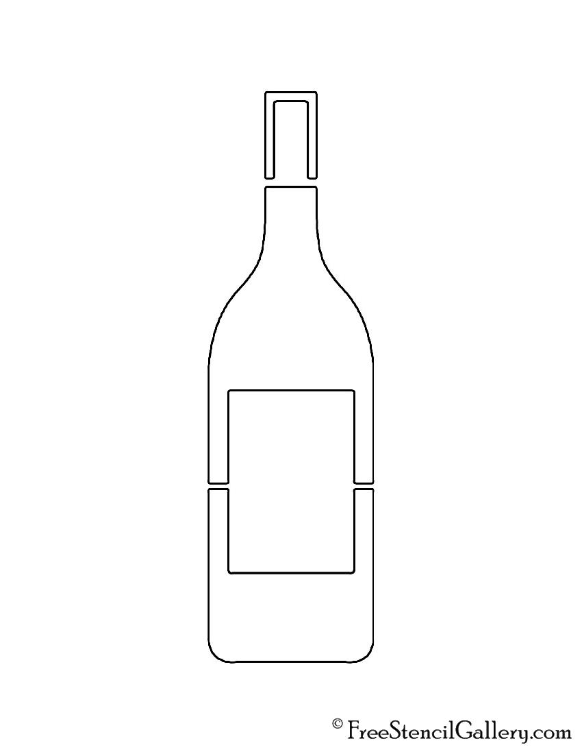 Wine Bottle Stencil